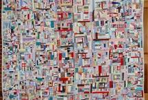 Crazy scrap quilt