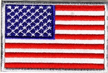 Flag Patches / Variety of US Flag collections.