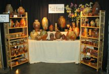 POTTERY DISPLAY / Here is where we show our work