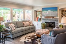 Eclectic Rustic |Kathy Ann Abell Interiors / When this space was completed we all agreed it made us feel happy!  The use of vibrant color combined with rustic elements was bright and fresh.