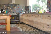 Zementfliesen & Holz / Inspiration für meinen neuen Küchenboden