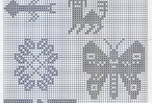 Charts knitting, crochet etc.