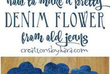 denim flower