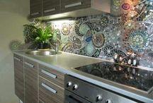 kitchen splashback art deco