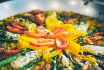 PAELLA PERFECTION / Spain's national dish- adds sizzle and spice to any summer menu. This alluring one-pan wonder classically combines seasoned saffron rice, garlic and onions with elements from the country's fertile Mare y Montana (the sea and the mountains).