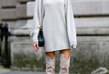 Frauen tragen Stiefel
