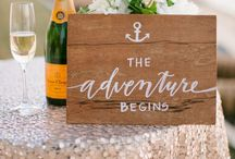 Wedding Signs / Whether for decor or to direct, wedding signs are a perfect choice! From fun to elegant, find a little wedding sign inspiration.