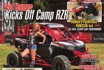 Magazine Cover. Polaris Razor. UTV. SXS. Erin Houser is on the cover of this issue.