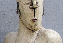 Ceramic sculpture / Ceramic sculpture busts - ceramic art handmade in Greece home Decor ideas contemporary art items