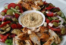Griekse maaltijd salade