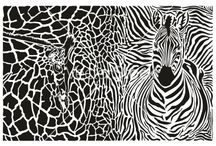 Africa - illustration / illustrations of animals and animal background