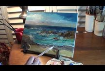 Marge Kinney painting seascapes