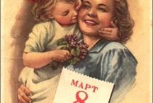8 march retro postcards