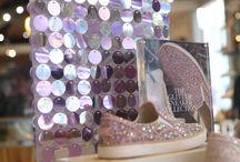 Uggs glitter sneakers launch with Shimmerwalls store and window displays summer 2017 / #visualmerchandising, #storewindows #windowdressing, #vm