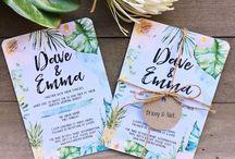 Tropical Wedding Stationary <3