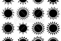 black sun tattoo