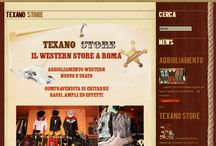 Texano Store / Site developed for Texano Store - western clothing and guitars sale in Rome http://www.texanostore.com