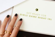 Upgrading the Everyday: Game Night with Friends / Plan your next girls night in as a game night! We've got ideas for snacks, drinks, decor + gifts.  / by Ecco Domani