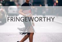 Fringeworthy / The hottest fall fringe styles