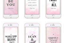 Pretty IPhone Quote Wallpapers