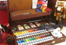 Colour / Colour is the term that Art Materials Manufacturers apply to all substances, such as dyes, pigments or paints, which can be applied to a surface to produce an artwork. Pure pigments, acrylic paint, oil colour, watercolour, pencils, pens and markers, pastels, inks, ceramic and glass paints and gilding paints and leaf are all included in Colour.