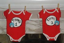 baby shower for our twins :) / we're having twins our baby shower theme is thing 1 and thing 2