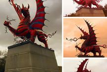 Drago's statue welsh asia