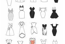 drawing dresses