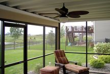 Underdeck / UnderDeck drainage systems create a dry deck ceiling. This system allows homeowners to use under deck area for storage or to create an outdoor space. / by DIY Home Center