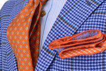 0 light blue check suit