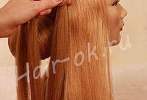 hair on manequin