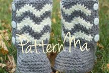 Crochet boots, booties, slippers and socks.