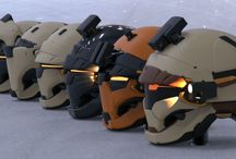helmets and clothing