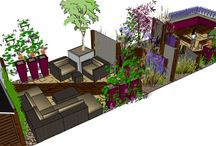 Modern Family Garden Design in Kent / The clients have lived in the house for a number of years and have two young children and two very active Jack Russell dogs. The children rarely use the garden, so the clients are happy to make its principal purpose entertaining friends. The clients would like a contemporary garden design that complements the interior of the house. However, the garden should be practical enough to cope with the demands of an energetic family. www.earthdesigns.co.uk
