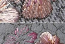 embroiderered flowers