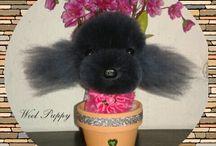 Wool puppy! / Handmade dog! Gyapjú kutya! Hasonmása az elő kutyának!
