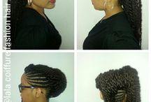 My hair creation / # hair# afro # style# natural # paris# france#