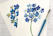 Water colour cards
