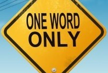Quote Words ~~ Set 1 ~~ ONE WORD ONLY / by Bonnie Haldeman