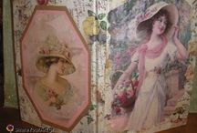 decoupage book boxes notebook libros ντεκουπαζ τετραδια βιβλια Декупаж  Книга-шкатулка  defter kitap