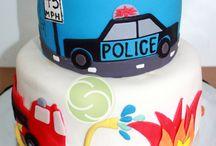 Fiesta de policía y bombero