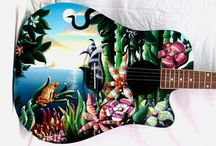 custom painted guitars / Custom painted and airbrushed guitars by Davide Ricchetti artist