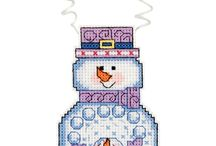 Snowman wearing Ugly sweater ornaments