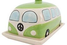Campervans / Campervan mugs, butter dishes, and cruet sets! Novelty campervan kitchen and bedroom accessories. Perfect for both children and adults!