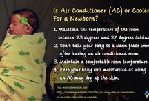 Is Air Conditioner (AC) or Cooler Safe For a Newborn? / Are ‪#‎AirConditioners‬ or Coolers Safe For a ‪#‎Newborn‬? Yes it is, provided you take a few ‪#‎precautions‬