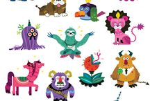 Vintage Monsters / Character design