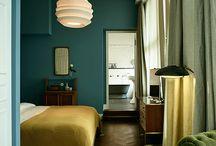 Inspiration chambre - vert et bleu