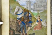 Saint George and the Dragon / Various depictions of Saint George slaying the dragon.