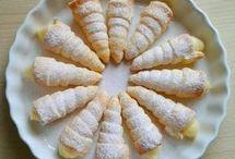 conos de hojaldre con crema pastelera