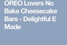 Oreo no bake cheesecake bars